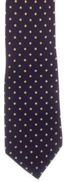 Ralph Lauren Purple Label Polka Dot Silk Tie