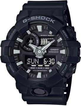 G-Shock Men's Analog-Digital Black Resin Strap Watch 53x58mm Ga-700-1B