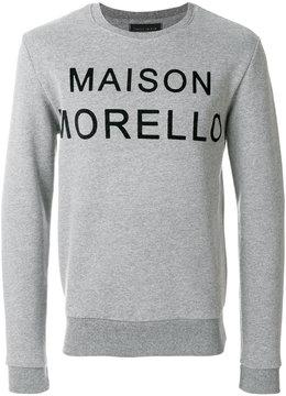 Frankie Morello logo patch sweatshirt