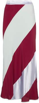 Marni Multicolor Silk Diagonal Striped Skirt