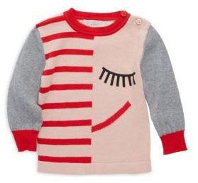 Stella McCartney Baby's Striped Sleeping Face Print Sweatshirt
