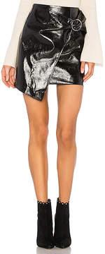J.o.a. Patent Mini Skirt