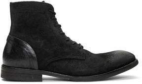 H By Hudson Black Suede Yoakley Boots
