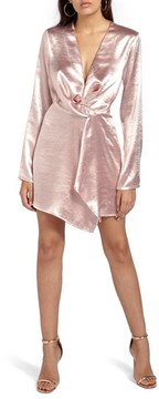 Missguided Women's Satin Wrap Minidress