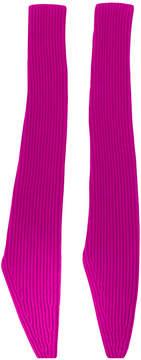 Calvin Klein long fingerless gloves