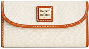 Dooney & Bourke Lizard-Embossed Continental Wallet, a Macy's Exclusive Style - AQUA - STYLE