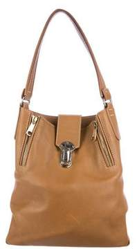 VBH Zip-Accented Leather Shoulder Bag
