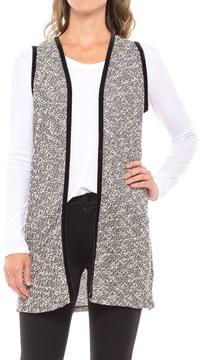 August Silk Lace-Back Vest - Velvet Trim (For Women)