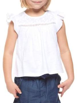 Dex Little Girl's Embroidered Cap-Sleeve Top