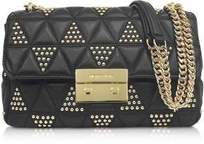 Michael Kors Sloan Large Studded Leather Shoulder Bag - ONE COLOR - STYLE