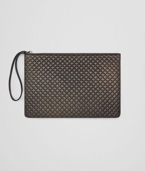Bottega Veneta Dark Bronze Nappa Biletto