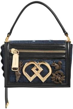 DSQUARED2 Small Dd Denim Top Handle Bag W/ Charms
