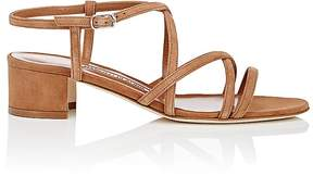Manolo Blahnik Women's Atrita Suede Sandals