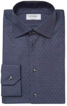 Eton Men's Dot Print Contemporary Fit Dress Shirt
