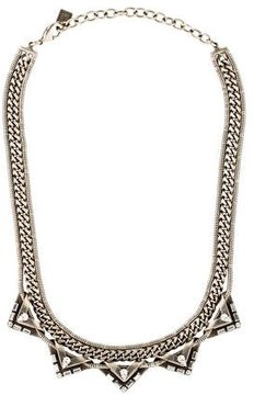 Dannijo Lizzie Crystal Chain Collar Necklace