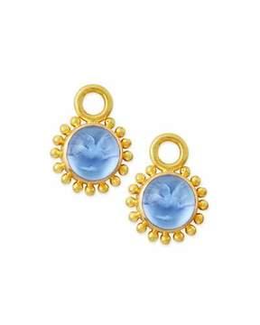Elizabeth Locke Cerulean Tiny Griffin Intaglio Earring Pendants