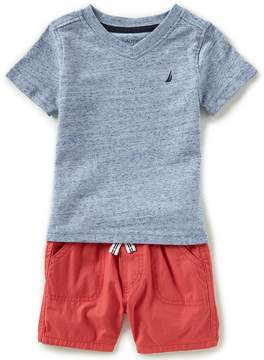 Nautica Baby Boys 12-24 Months V-Neck Tee & Pull-On Shorts Set