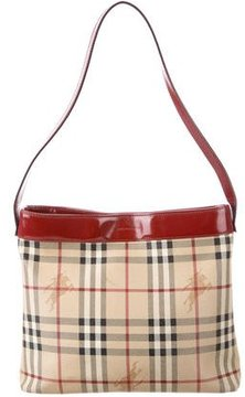 Burberry Haymarket Check Shoulder Bag - BROWN - STYLE