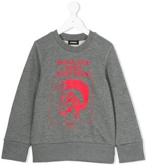 Diesel Mohawk logo print sweater