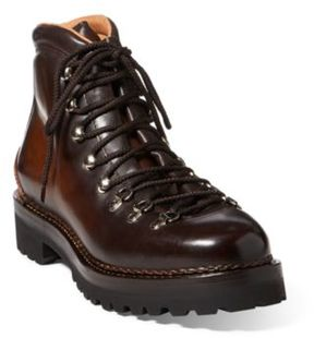 Ralph Lauren Fidel Ii Hand-Burnished Boot Dark Brown 8 D