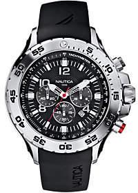 Nautica Men's Stainless Steel Black Resin StrapAnalog Watch