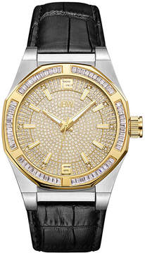 JBW Diamond Mens Black Strap Watch-J6350e