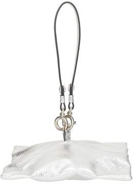 Maison Margiela Silver Leather Clutch Bag