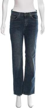 DKNY Wide-Leg Mid-Rise Jeans