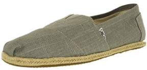 Toms Men's Classic Linen Grey Ankle-High Canvas Flat Shoe - 10.5M
