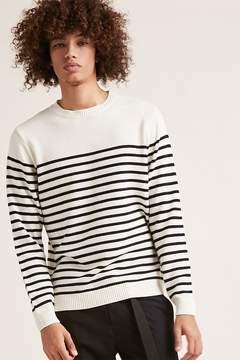 21men 21 MEN Striped Purl Knit Sweater