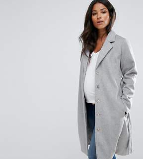 Mama Licious Mama.licious Mamalicious Wool Coat