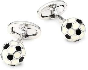 Jan Leslie Men's Sterling Silver Soccer Ball Cufflinks