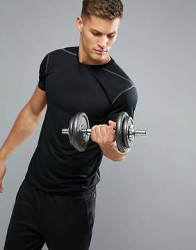New Look SPORT T-Shirt With Mesh In Black
