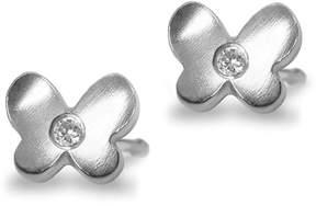 Alex Woo Women's Sterling Silver and Diamond Stud Earrings