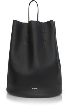 Jil Sander Open Miscellaneous Leather Bucket Bag