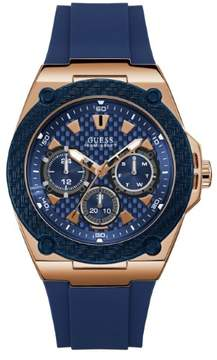 GUESS Blue and Gold-Tone Chronograph Watch