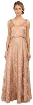 Donna Morgan Lace Blouson Gown Women's Dress