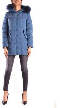 Geospirit Women's Blue Polyester Down Jacket.