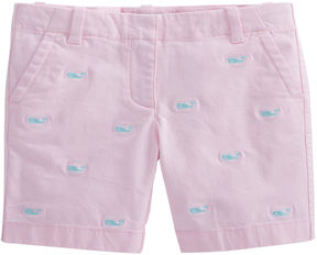 Vineyard Vines Girls Whale Embroidered Island Shorts