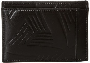 MARNI Flower Embossed Leather Card Holder