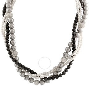 Bella Pearl Mixed Braided Pearl Necklace