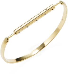 Amrapali Women's 18K Yellow Gold & 0.20 Total Ct. Diamond Bar Bangle Bracelet