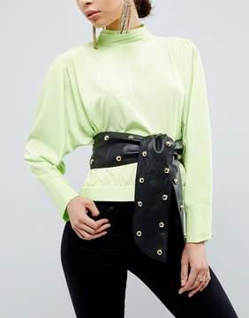 Asos 80s Leather Studded Sash Waist Belt