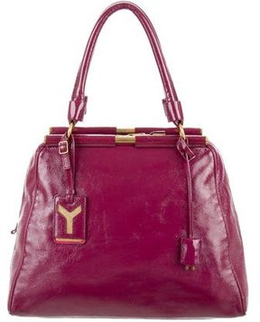 Saint Laurent Patent Leather Medium Majorelle Bag - PURPLE - STYLE