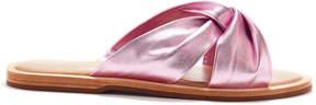 Rachel Zoe Hampton Knotted Metallic Leather Slides