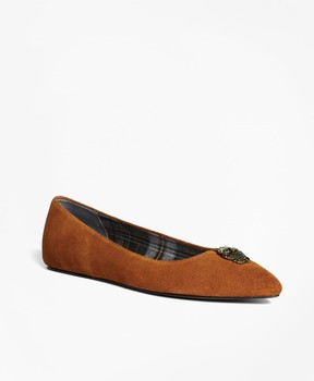 Brooks Brothers Suede Ballet Flats