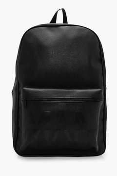 boohoo MAN Embossed PU Backpack