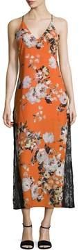 ABS by Allen Schwartz Women's Floral Printed Tea Length Dress