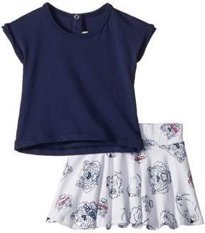 Kenzo Tee Shirt and Skirt Tigers Girl's Active Sets