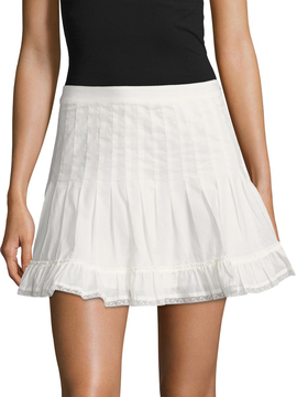 Dolce Vita Women's Tracey Lace Trimmed Flare Skirt